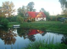 Holiday houses in the Belovezhskaya Pushcha. Holiday house Olizarov stav, Brest Region